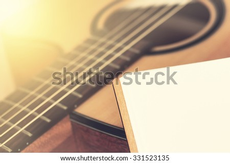 Notebook on guitar