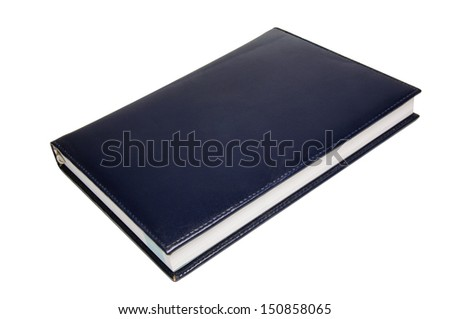 Notebook on the white background - stock photo