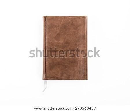notebook on white - stock photo