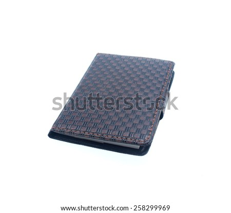 Notebook on white background