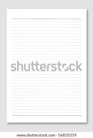 Notebook paper. - stock photo