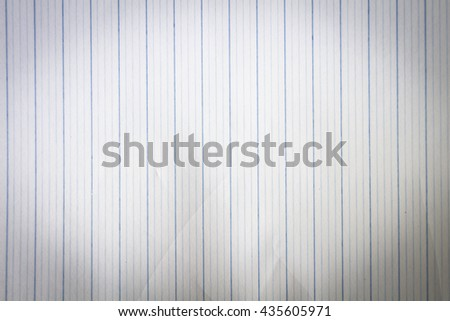 notebook paper background Torn Leaf Study Take Draw Text Old Copy Open Wire Sheet Book Note Memo Line Pad Page Lined Write Letter Clean Blue Diary Black - stock photo