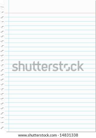 Notebook Paper Illustration - stock photo