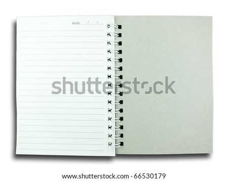 Notebook Paper on White Background - stock photo