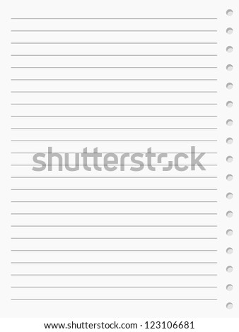notebook paper sheet. Raster version - stock photo