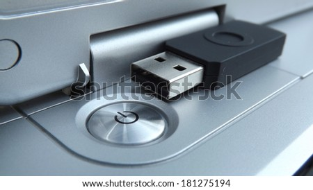 Notebook Power Button Close-View