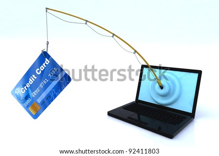 notebook privacy security concept 3d illustration - stock photo