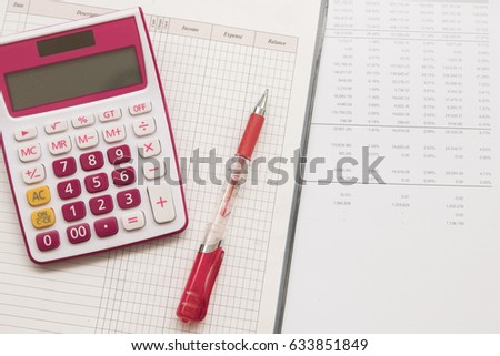 notebook record expense income and financial statement yearly