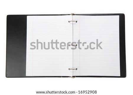 Notebook, Ring Binder, with white background - stock photo