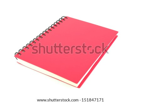 notebook spiral bound isolated on white background