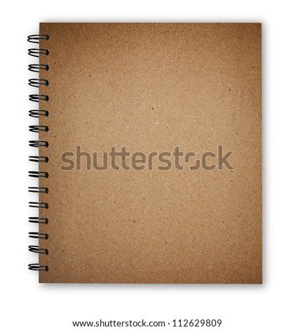 notebook texture cover isolate with clipping path - stock photo