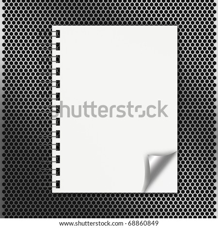 notebook with bended corner