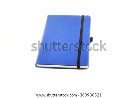 Notebook with black elastic band  - stock photo