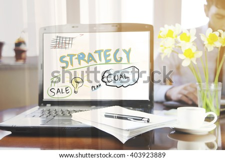 notebook with notepad and pen on it - stock photo