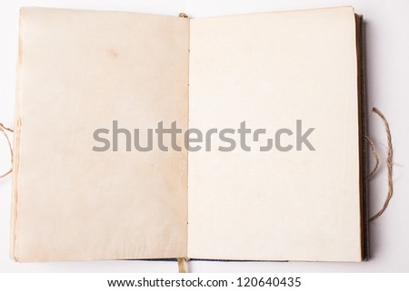 Notebook with old pages - stock photo