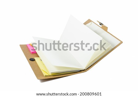 Notebook with old pages isolated
