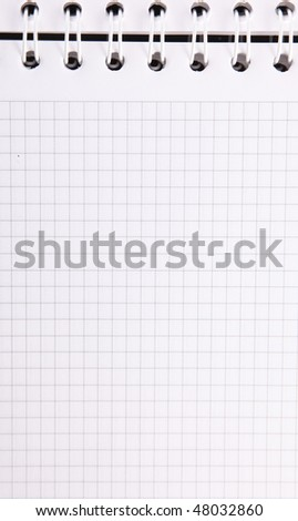 Notebook with rings and quartered, Empty to insert text or design. Vertical Image - stock photo