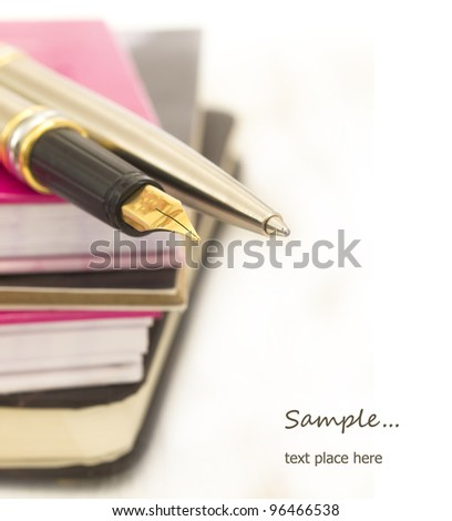 notebooks and pencils - stock photo