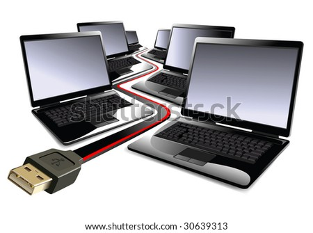 notebooks business background - stock photo
