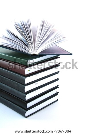Notebooks isolated on white background.