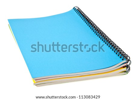 notebooks on a white background - stock photo