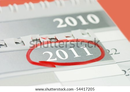 Noted date on a calendar - stock photo