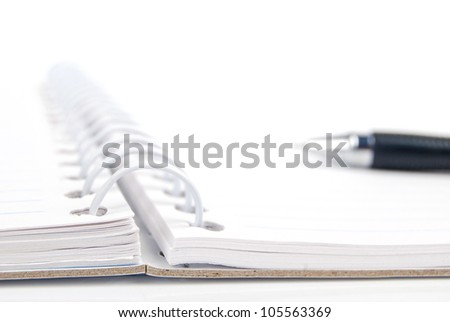 Notepad and pen - stock photo