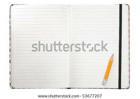 Notepad and pencil isolated on a white - stock photo
