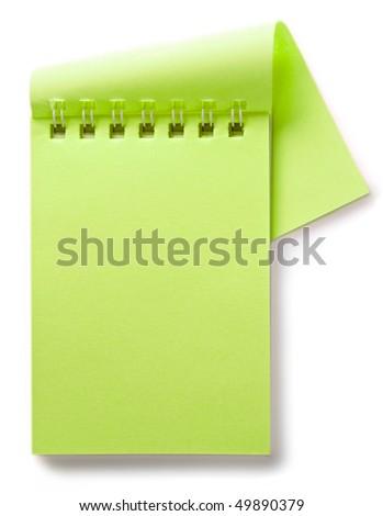 Notepad isolated on the white background - stock photo