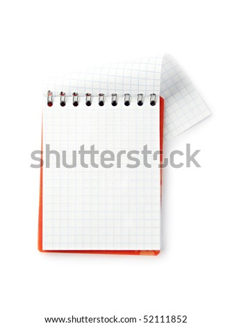 Notepad isolated on the white background
