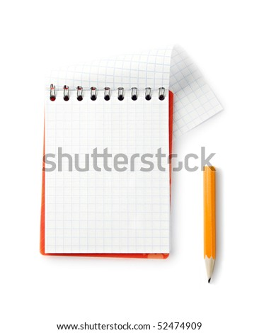 Notepad isolated on the white background - stock photo