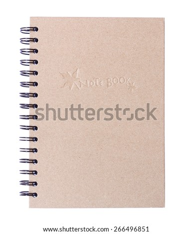 notepad isolated on white background - stock photo