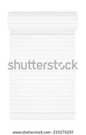 Notepad isolated on white background,  file includes a excellent clipping path