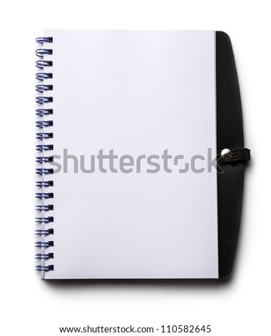 Notepad on the white background