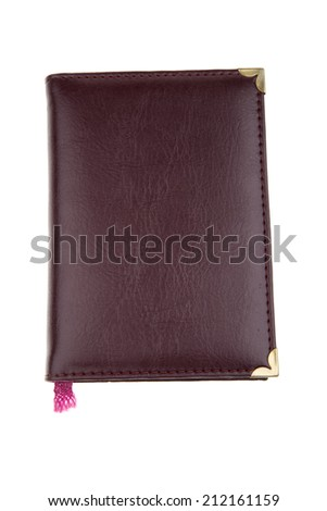 notepad on white background. Personal organiser - stock photo