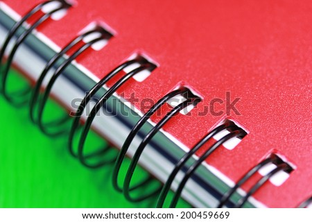 Notepad spring close up - stock photo