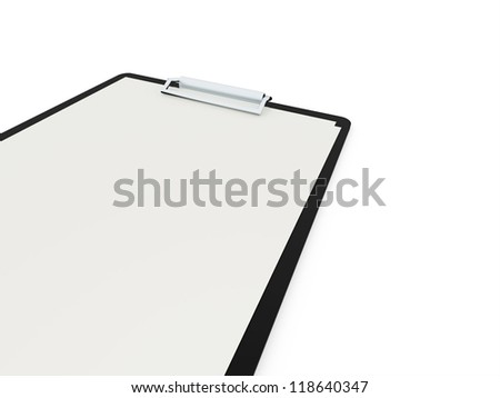 Notepad text book on white background