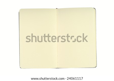 Notepad With Blank Pages. Isolated on White. - stock photo