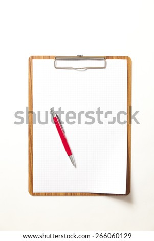 notepad with blank paper