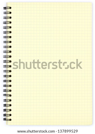 Notepad with blank yellow paper - stock photo