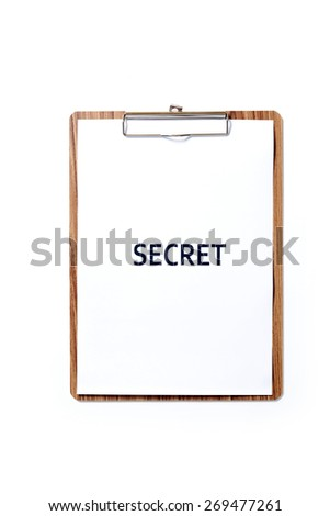 """notepad with """"secret"""" text - stock photo"""