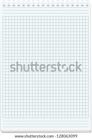 notepads. Blank sheet of paper for notes isolated on white. Raster version