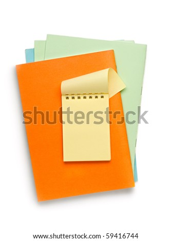 Notepads isolated on the white background