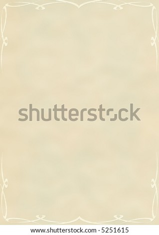 Notepaper with abstract frame - stock photo