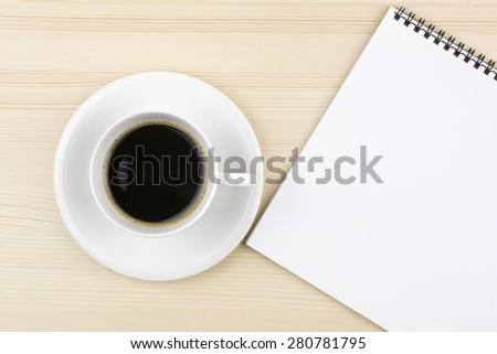 Notes and coffee