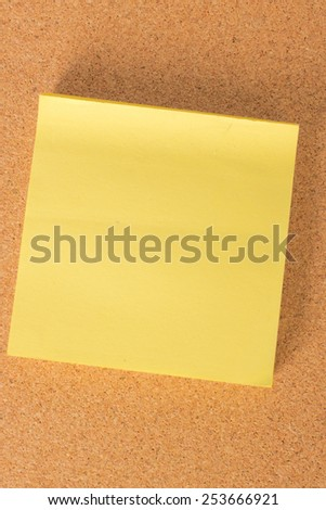 Notes isolated over a kork board - stock photo
