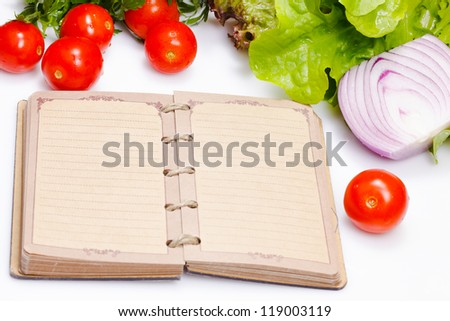 notes  of food eaten throughout the day when on a diet - stock photo