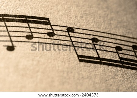Notes of Music - stock photo