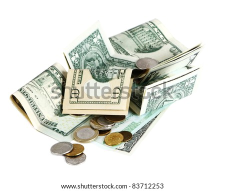 notes U.S. dollar - stock photo