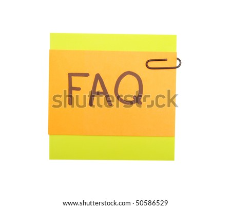 notes with faq over white background - stock photo